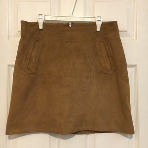 Brown/Tan Suede Skirt